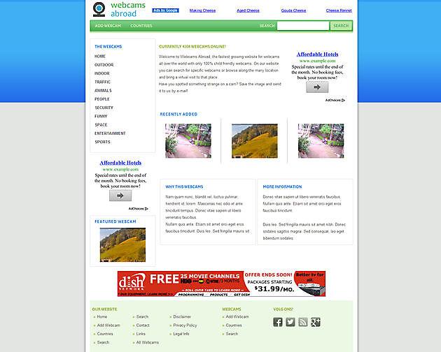 Webcams Abroad, International - Hoogma Webdesign Beerta