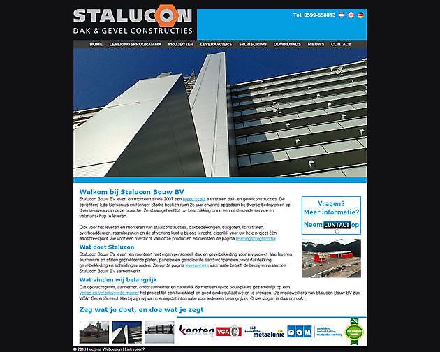 Stalucon Bouw BV, Stadskanaal - Hoogma Webdesign Beerta