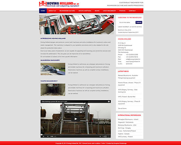 Hoving Holland Int. BV, Stadskanaal - Hoogma Webdesign Beerta