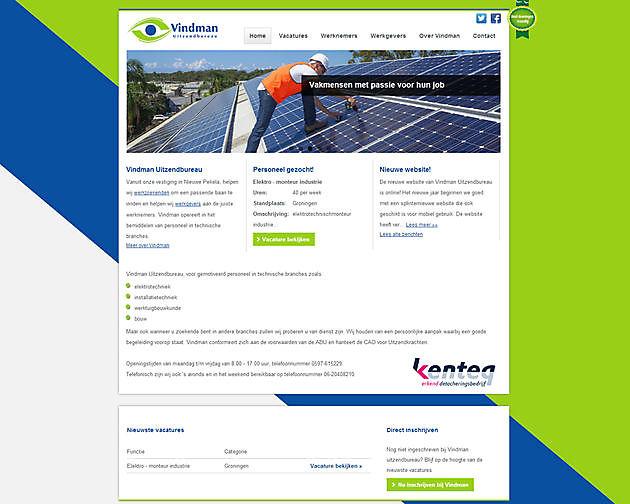 Vindman Uitzendbureau, Nieuwe Pekela - Hoogma Webdesign Beerta