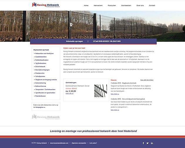 Hoving Hekwerk, Stadskanaal - Hoogma Webdesign Beerta