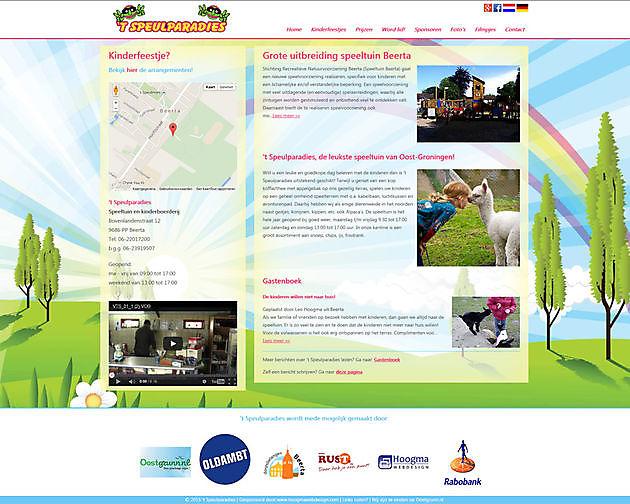 Speeltuin 't Speulparadies, Beerta - Hoogma Webdesign Beerta