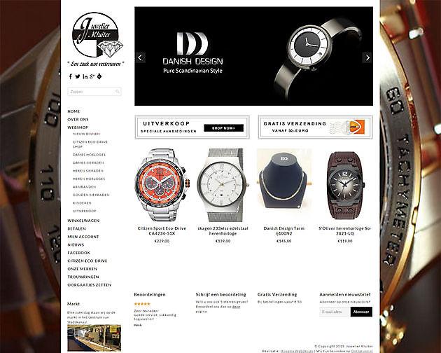 Juwelier Kluiter, Vlagtwedde - Hoogma Webdesign Beerta