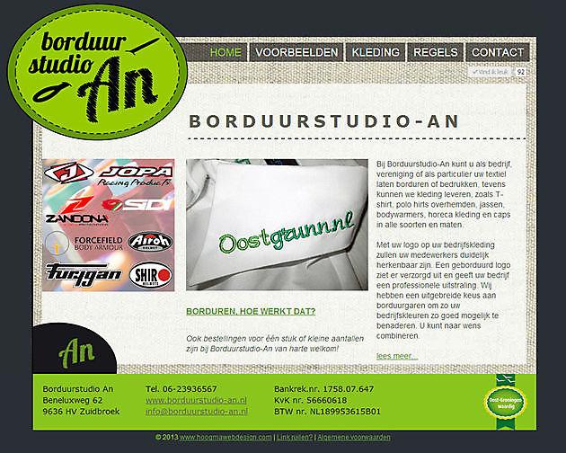 Borduurstudio An, Zuidbroek - Hoogma Webdesign Beerta