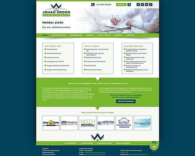 Johan Kroon Administratie, Scheemda - Hoogma Webdesign Beerta