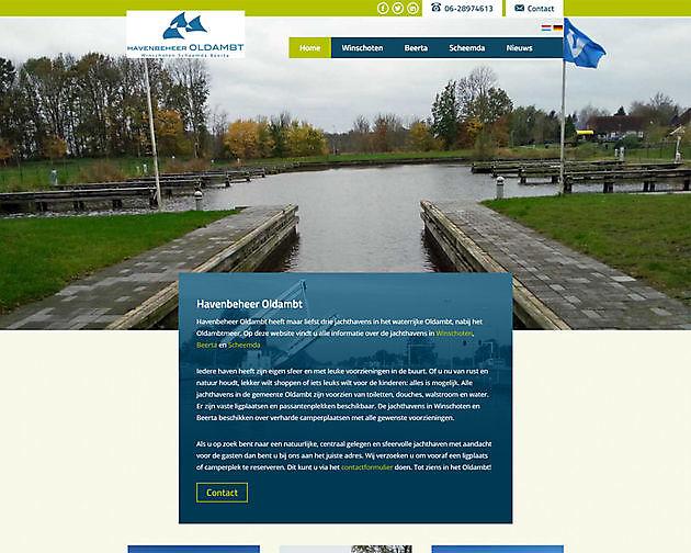 Havenbeheer Oldambt, Winschoten (Nederland) - Hoogma Webdesign Beerta