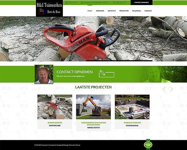 B&I Tuinwerken Vlagtwedde - Hoogma Webdesign Beerta