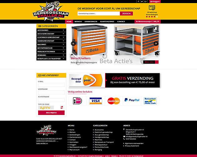 Gereedschapknaller.nl, Bellingwolde - Hoogma Webdesign Beerta