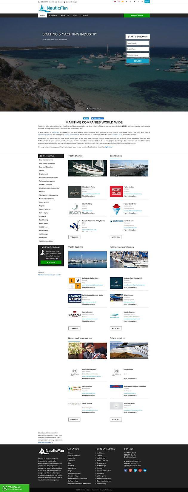Nauticfan, Beerta - Hoogma Webdesign Beerta