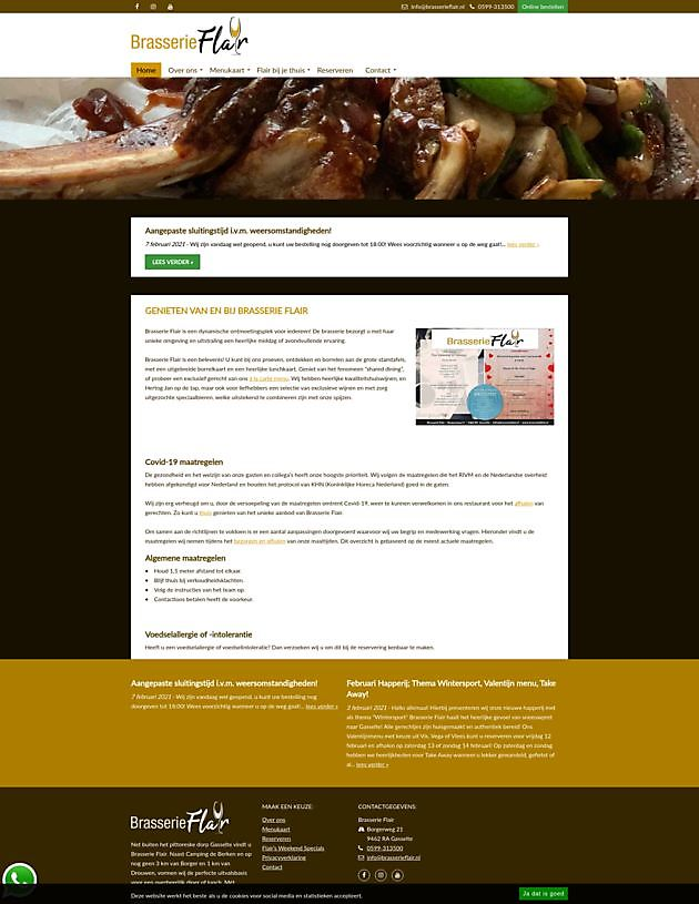 Brasserie Flair, Gasselte - Hoogma Webdesign Beerta