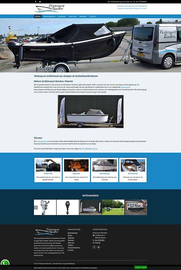 Watersport Reinders, Beerta - Hoogma Webdesign Beerta