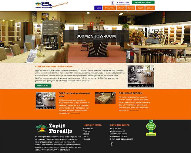 Tapijt Paradijs, Oude Pekela - Hoogma Webdesign Beerta