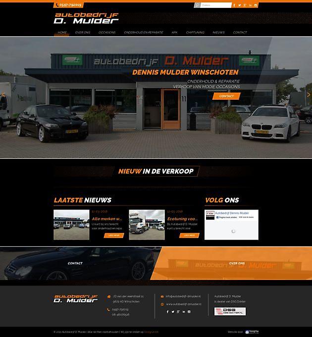 Autobedrijf D.Mulder, Winschoten - Hoogma Webdesign Beerta