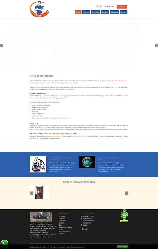 Schildersbedrijf Klein, Westerlee - Hoogma Webdesign Beerta