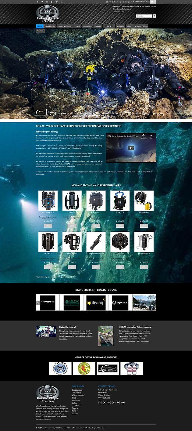 Rebreatherpro Training Ltd., Lutterworth, Engeland - Hoogma Webdesign Beerta