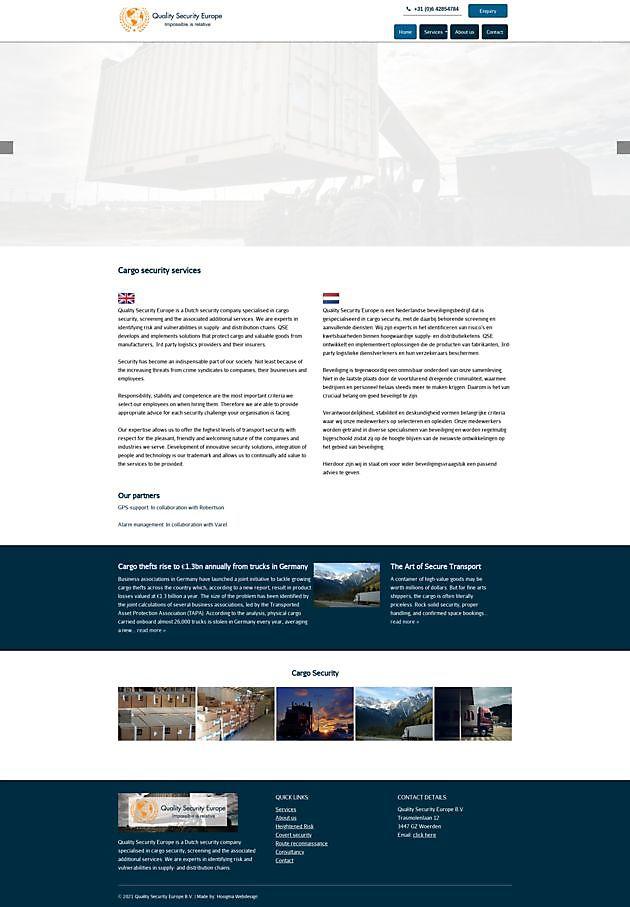 Quality Security Europe BV, Woerden - Hoogma Webdesign Beerta