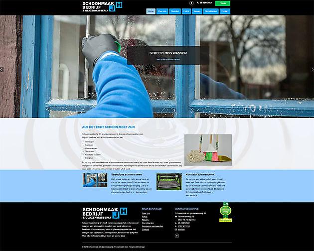 Schoonmaakbedrijf en glazenwasserij JH, Heiligerlee - Hoogma Webdesign Beerta