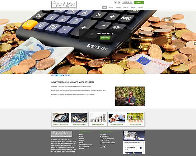 Riks Advies, Voorschoten - Hoogma Webdesign Beerta