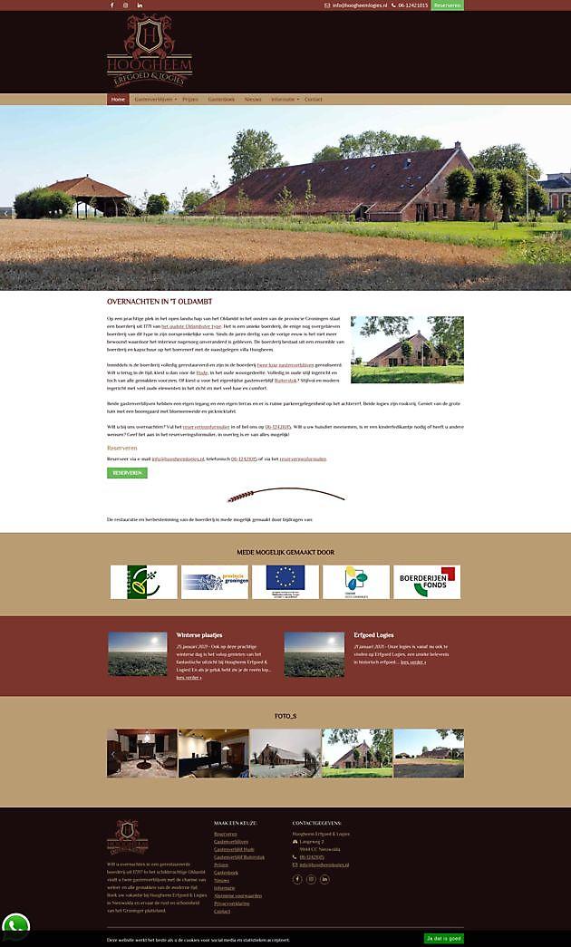 Hoogheem Logies, Nieuwolda - Hoogma Webdesign Beerta