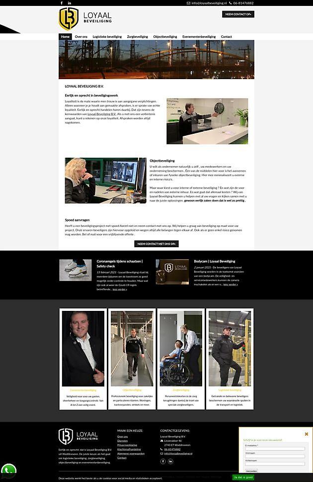 Loyaal Beveiliging, Waddinxveen - Hoogma Webdesign Beerta
