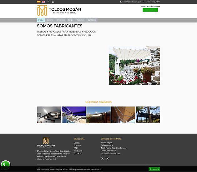 Toldos Mogán, Gran Canaria - Hoogma Webdesign Beerta