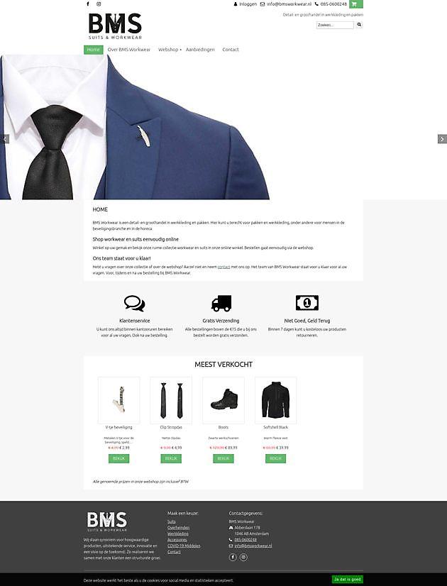 BMS Workwear, Amsterdam - Hoogma Webdesign Beerta