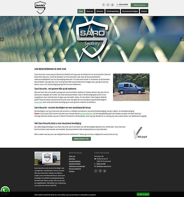 Saro-Security, Purmerend - Hoogma Webdesign Beerta