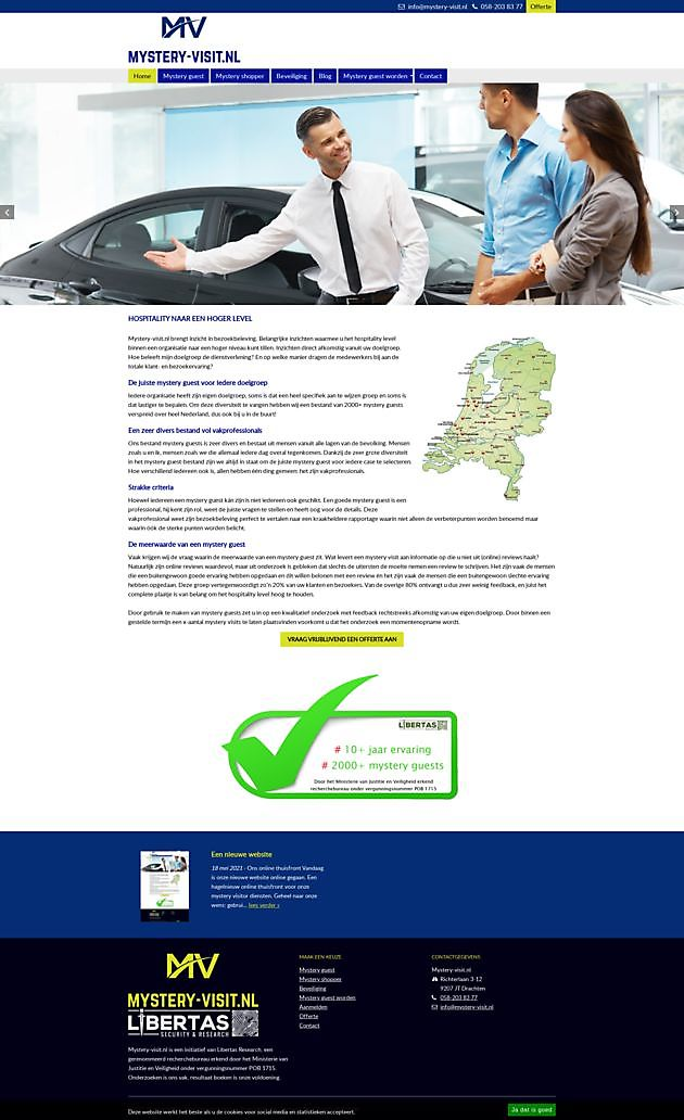 Mystery-visit.nl, Drachten - Hoogma Webdesign Beerta