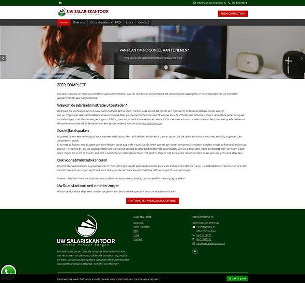 Uw Salariskantoor - Hoogma Webdesign Beerta