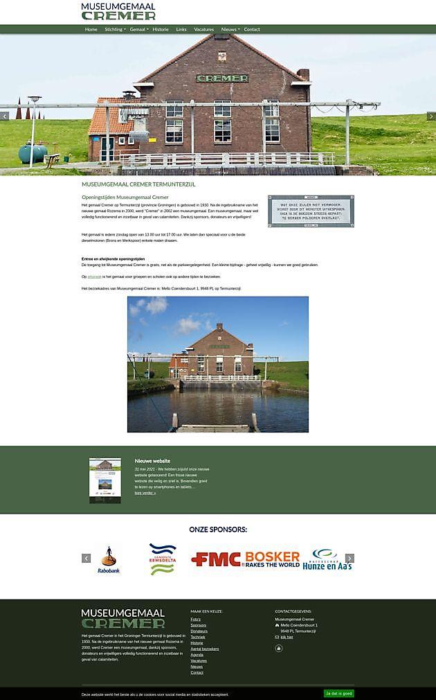 Museumgemaal Cremer, Termunterzijl - Hoogma Webdesign Beerta