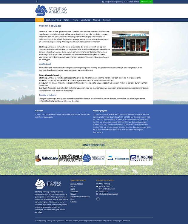 Stichting Armslag, Stadskanaal - Hoogma Webdesign Beerta