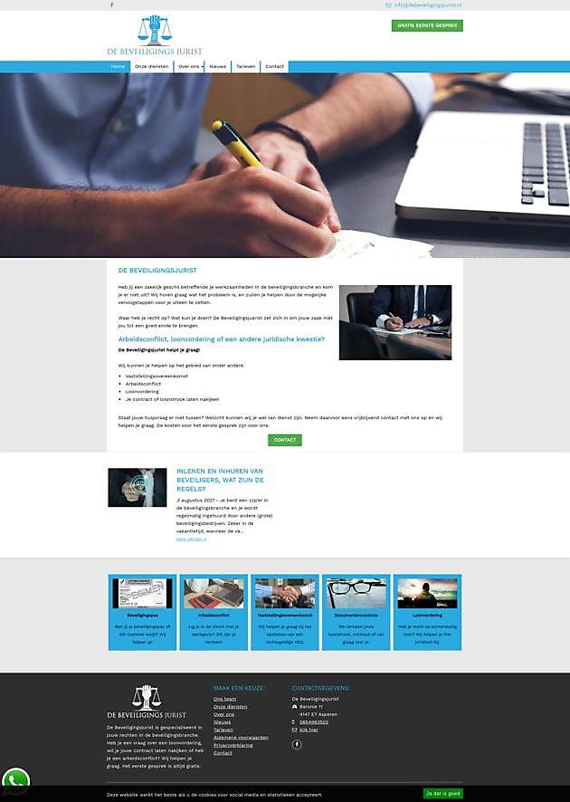 De Beveiligingsjurist, Asperen - Hoogma Webdesign Beerta