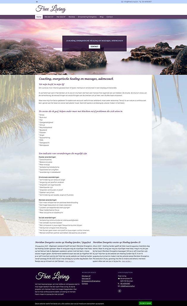 Free Living, Dronten - Hoogma Webdesign Beerta