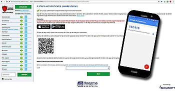 Jouw website extra beveiligd met onze 2-stapsverificatie Hoogma Webdesign Beerta