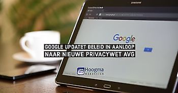 Google (Gmail) voldoet aan strenge eisen AVG Hoogma Webdesign Beerta