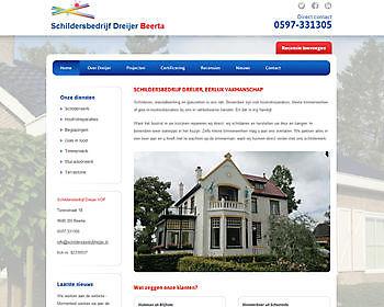 Schildersbedrijf Dreijer, Beerta Hoogma Webdesign Beerta