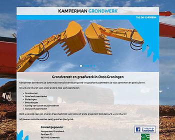 Kamperman Grondwerk, Scheemda Hoogma Webdesign Beerta